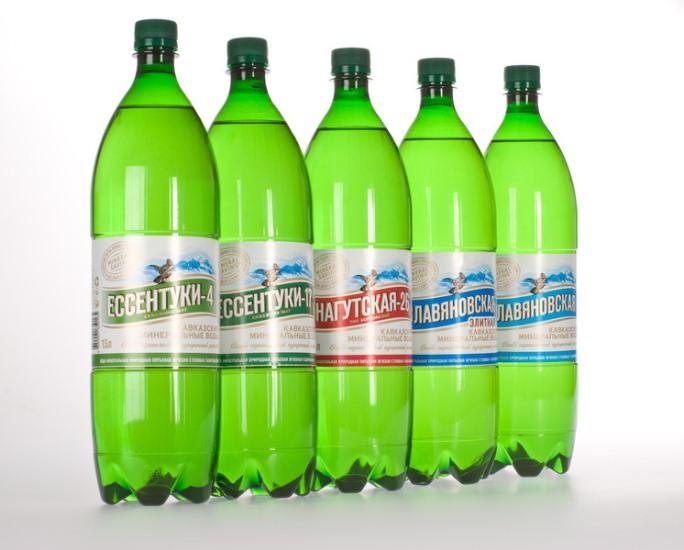 минеральная вода в бутылках