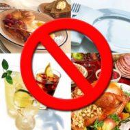 запрещенные продукты при холецистите