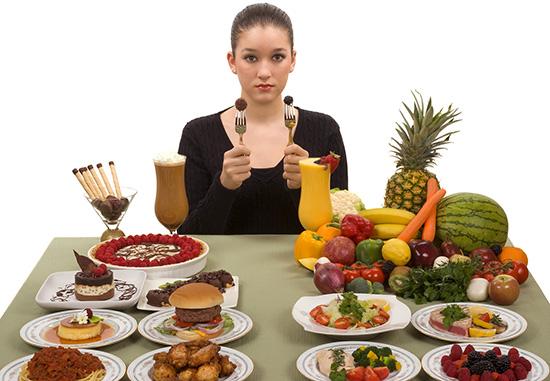 выбор еды
