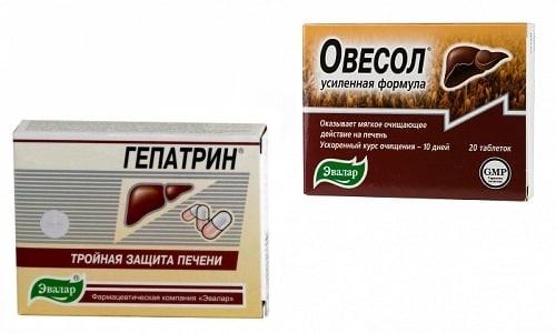 Для восстановления печени часто рекомендуют принимать Овесол или Гепатрин