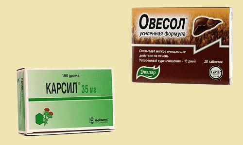 Когда у пациентов появляются проблемы с печенью, врачи часто рекомендуют принимать Овесол или Карсил